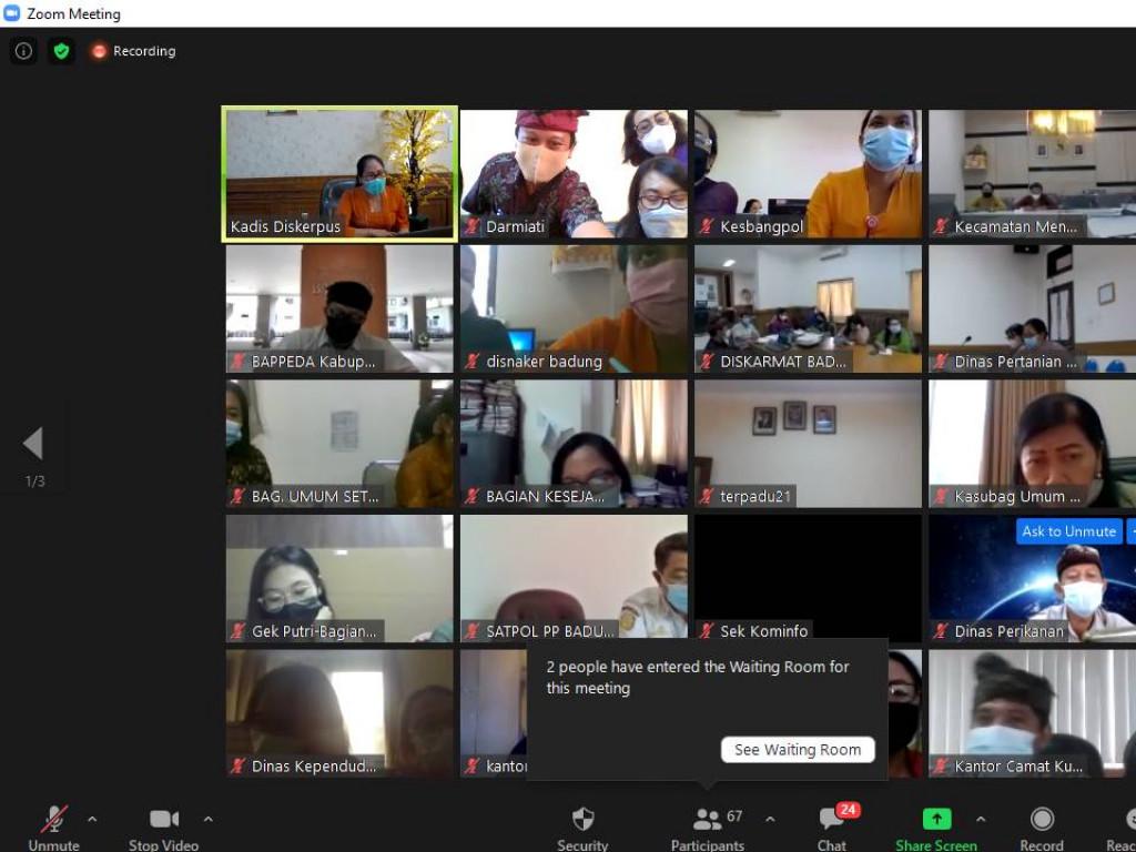 Rapat Virtual Tentang Pengawasan Kearsipan